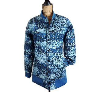 The North Face Anna Blue Leopard Quilted Coat N338